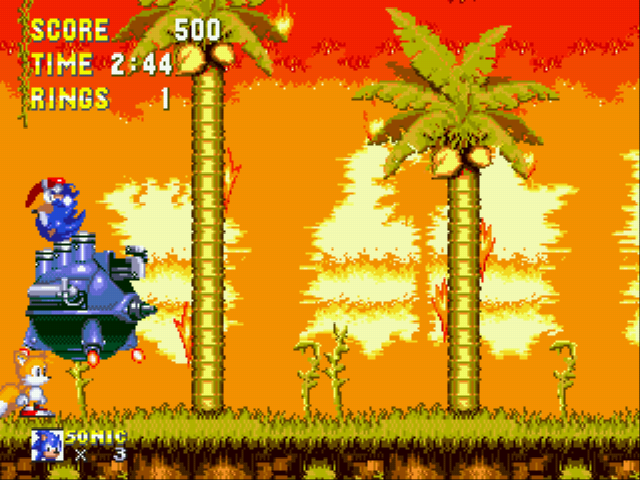 Sonic 3 Complete - Battle  - Jump on him? - User Screenshot